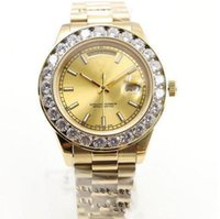 Wholesale diamond president for sale - 2018 Luxury Brand Gold President Day Date Diamonds Watch Men Stainless Mother of Pearl Dial Diamond Bezel Automatic WristWatch AAA Watches