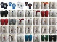 юношеская футбольная команда оптовых-Новые трикотажные изделия американского футбола Все 32 Команды Сшитые Мужские Женские Молодежные Пользовательские Любое имя Любое число Персонализированный S-4XL Mix Match Order