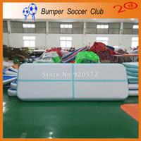 Wholesale pvc inflatable pump resale online - Free Pump m Strong Material Used Inflatable Air Tumble Track PVC Inflatable Gym Mat For Professional Gymnastics Games