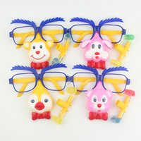 Wholesale plastic toy glasses - Plastic Funny Toy Cute Cartoon Animal Shape Halloween Props Dressed In Glasses Blow Out Dragon Toys For Child 1 05ys B