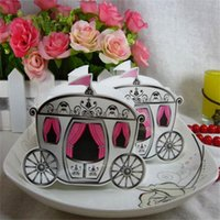 ingrosso pizzo favorisce-Lovely Gift Wrap Wedding Favors Cioccolato Hollow Sweet Sugar Romantic Lace Scatole di carta Pumpkin Carriage Gifts Party Supplies 0 2lw bb