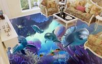 muralas subaquáticas 3d para paredes venda por atacado-Personalizado 3d mural papel de parede o mundo subaquático 3d foto papel de parede quarto sala de estar mural fundo da parede