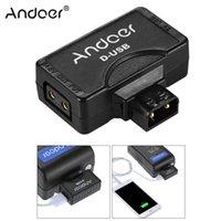 batterie-monitor-kameras großhandel-Andoer D-Tap auf 5V USB-Adapteranschluss für V-Mount-Camcorder-Kamera-Akku für BMCC Smartphone Monitor
