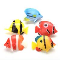 Wholesale Fake Plastic Fish - 1Pcs New Aquarium Artificial Fish Fake Tropical Fish Florating Moveable Tank Aquarium Decoration Kids Bath Toys