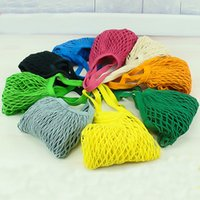 Wholesale Folding Fabric Shopping Bag - Multifuction Fruits Vegetable Foldable Portable Shopping Bag String Cotton Mesh Pouch For Sundries Juice Storage Bags Hot Sale 4 5jz Z