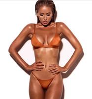 mejores bikinis al por mayor-Lady cool Sunshine beach bikini tentación sexy traje de baño de alta calidad mostrar buena figura pecho grande piernas largas