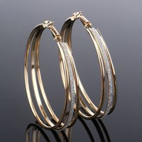 Wholesale Earings Designs - Fashion jewelry New Design u shape small circle silver earings Hollow tip clip cuff earrings Factory manchette Wholesale
