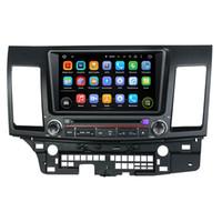 gps para mitsubishi lancer venda por atacado-Leitor de DVD Carro para MITSUBISHI Lancer 2006-2012 8 Polegadas Octa-core Andriod 8.0 com GPS, Controle de Volante, Bluetooth, Rádio