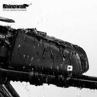 ingrosso nuovi accessori per cellulari-Rhinowalk New Outdoor Road Bike Ciclismo Borsa da equitazione impermeabile Telaio anteriore Top Bicicletta Cellulare Guanti Accessorio