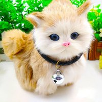 Wholesale Dog Cat Bell Collars - 9 Colors Weave Braid Dog Cat Collar with Bells Puppy Pets Necklace Pet Jewelry Drop Shipping