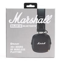 auriculares bluetooth hi fi al por mayor-Marshall Major III 3.0 auriculares Bluetooth con micrófono Deep Bass Hi-Fi DJ Headset Wireless Major 3 Professional Retail box Flydream