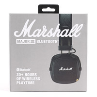 Wholesale Marshall Major III Bluetooth headphone With Mic Deep Bass Hi Fi DJ Headset Wireless Major Professional Retail box Flydream