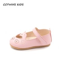 Wholesale baby white mary jane shoes - CCTWINS KIDS Spring Children Pink First Walker Baby Girl Brand Party Mary Jane Toddler Fashion Pu Leather Shoe FW021