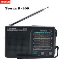 mejor receptor de radio al por mayor-Mejor TECSUN R-909 Radio FM / AM / SW Radio Receptor multibanda Portátil DX LOCAL Sensibilidad Y4140A Venta al por menor al por menor Bueno