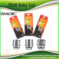 Wholesale Original Smok TFV8 Baby Coil Head V8 Baby T8 T6 X4 Q2 ohm ohm M2 ohm ohm Core Replacment Coils Authentic SmokTech