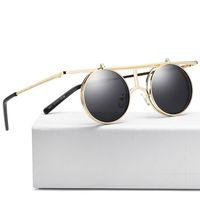 inverter venda venda por atacado-2018 venda quente moda steampunk rodada lente inverter óculos de sol multi cores dos homens retro polarizada legal óculos de sol