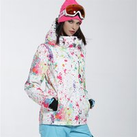 лыжная одежда женщина оптовых- New Winter Ski Jackets Suit Women Outdoor Waterproof Snowboard Jackets Climbing Snow Skiing Clothes
