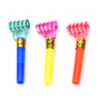 Wholesale goody bags - 10PCS Small Multi Color Party Blowouts Whistles Kids Birthday Party Favors Decoration Supplies Noicemaker Goody Bags Pinata