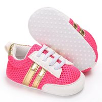 Wholesale Girl Sport Cloth - Newborn baby boys girls canvas shoes Net cloth Soft bottom sneakers Toddler Baby Moccasins Soft Casual kids sports shoes