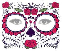 ingrosso gli adesivi del tatuaggio degli occhi del partito-Autoadesivo dell'ombretto a gettare all'ingrosso Magic Eye Face Lace Style impermeabile tatuaggio temporaneo per la bellezza Makup Stage Halloween Party