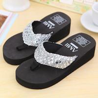 Wholesale Wholesale High Heel Slippers - Wholesale- SCYL Summer Shoes Women Platform Sandals Wedge Flip Flops Sapato Feminino High Heel slippers Sandalias Plataforma Chanclas