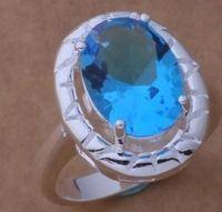 ingrosso anelli di diamanti blu chiaro-nobile argento 925 intarsio diamante blu chiaro anello donna taglia 6--9 (sp3658)