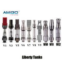 Wholesale Ceramic Oil - 100% Original iTsuwa Amigo Liberty V1 V3 V5 V6 V7 V8 V9 V10 V11 V12 Tank Ceramic Coil Thick Oil CE3 Cartridge Atomizer
