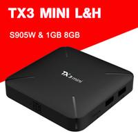 Wholesale android tv cortex for sale - NEW TX3 MINI L Smart TV BOX Android K S905W Quad core Cortex A53 Mali MP5 G Wireless WIFI Set Top Box Smart Media Player tx3mini