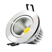 Wholesale cob led dimmable recessed downlight resale online - 9W led down lights dimmable cob led recessed light downlight lamp warm nature cold white AC85 v drivers