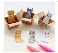 Wholesale Cheap Paper Decorations - Wholesale 50PCS Lot Cheap Cute Kitty Pastoral Post It Notes Cute Sticky Notes Students Kawaii Stationery Office Supplies Paper Message Note