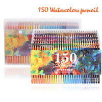Wholesale wood box gift sets for sale - 150 Water Colour Pencils Watercolour Pencils For Aquarelle Drawing