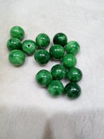 Wholesale jade beads mm - Chinese natural green jade bead diameter of 16 mm DIY free shipping