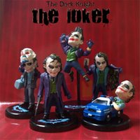 Wholesale Knight Toy - The Dark Knight Joker 5pcs set PVC Action Figure The Avengers Collectible Model Toy 3.5~5.8cm