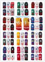 Wholesale youth basketball jerseys - Very popular Youth 2018 New season jerseys Embroidery Logos Kids jersey free shipping