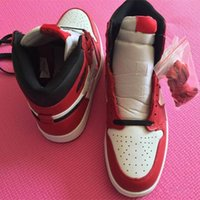 Hot selling With Box 1 Chicago High OG RED WHITE men basketball shoes 1s I sports sneakers trainers high quality 5-13 Wholesale size 36-47