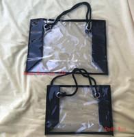 trajes de baño de metal al por mayor-Set de regalo VIP de 2 bolsas Moda mujer Transparencia Lavar Bolsa Belleza Maquillaje Bolsas Maquillaje Herramienta Caja de almacenamiento Bikini Traje de baño Bolso Totes cosméticos