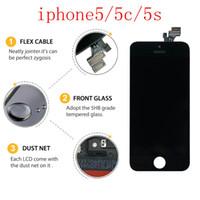 iphone 5s bezel değiştirme toptan satış-Orijinal iphone5 serisi için LCD dokunmatik ekran ipone5 5c 5 s orijinal cep telefonu ekran + ücretsiz DHL kargo