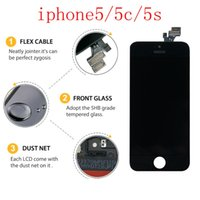 5s de pantalla original al por mayor-Para la pantalla táctil LCD original de la serie iphone5 ipone5 5c 5s pantalla original del teléfono móvil + envío gratis de DHL