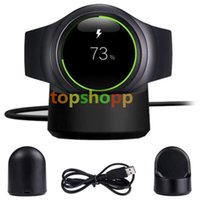 Wholesale dock s2 - For Samsung Gear S2 Smart Watch Wireless Charger Transmitter Fast charging Wireless charging Dock Pad Connected With USB Desktop DHL