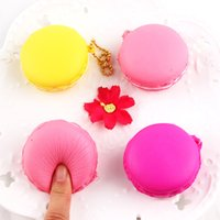 Wholesale dessert toys - Cute Macarons Dessert Cake Squishy Slow Rising Phone Charm Kawaii Squishies Jumbo Cream Scented Soft Decompression Anxiety Toy 3 4sq Y