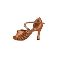 sapatos femininos de dança de salão venda por atacado-Qualidade profissional Foco sapatos de Dança Latina para as mulheres sapatos latino meninas salsa salão de baile sapatos de dança escuro tan preto