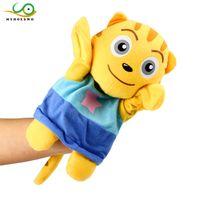 adereços de história de brinquedo venda por atacado-MYHOESWD Brinquedos Engraçados Dedo Bonecas para Contar História Animal Dos Desenhos Animados Boneca Fantoche de Mão Crianças Brinquedos Dedo Jogo Biológico Jogo Adereços