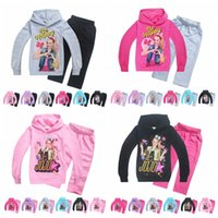 Wholesale children hooded tracksuits for sale - JoJo siwa Tracksuit Autumn Baby Clothing Sets Children Boys Girls Fashion Brand Clothes Kids Hooded T shirt And Pants MMA908