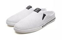 Wholesale Cheap Gingham - 2018 designer shoes men Casual Shoes White black Summer Comfort Breathable light men outdoor Canvas shoes cheap online size 39-44