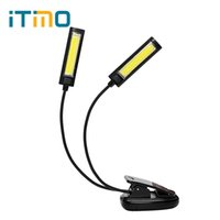 Wholesale Book Clip Notes - ITimo LED Book Light Reading Lamp Adjustable Folding Indoor Lighting Convenient Flexible Clip-on Note Lamp