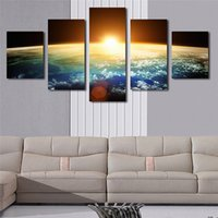 Wholesale mirrored panels for wall online - HD Print Painting Large Oil Poster Panel Planet Landscape Canvas Artwork Home Decoration Wall Pop Art Picture For Living Room