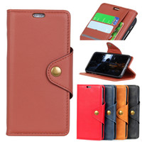 alcatel cüzdan kılıfı toptan satış-Alcatel 1 Için lüks Kickstand Flip Case Koruyucu Manyetik Deri PU Cüzdan Kapak Kılıf Alcatel 5 V 5060d Için Coque 6.2 inç