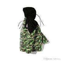 chaqueta de béisbol de los hombres al por mayor-Venta caliente de los hombres de camuflaje verde cálido chaquetas de invierno 2017 de algodón acolchado grueso Cothes hombres de manga larga caliente de algodón acolchado chaqueta