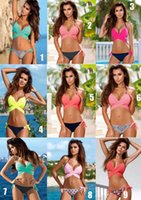 Wholesale Ladies Body Suits - 2018 New Summer Sexy Ladies Swim Wear Bikini-colored swimsuits for the split of the body Beach Bathing Suit
