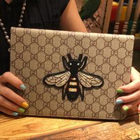 Wholesale Ipad Mini Case Animal Print - Fashion Famous For New ipad A1822 Case Leather Embroidery Bee ipad Tablet Protective Cover Case for iPad Pro 9.7 Air1 2 mini 4